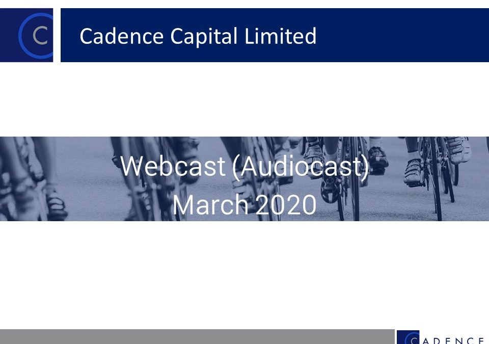 March 2020 Quarterly Webcast (Audiocast)