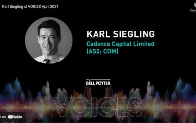 Karl Siegling at the Bell Potters virtual conference